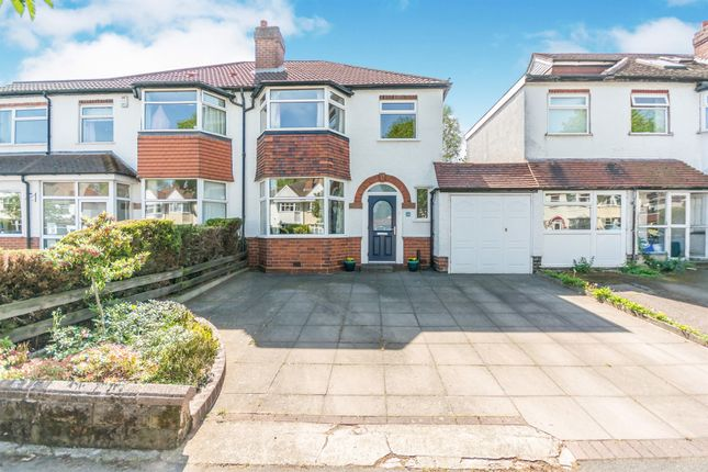Thumbnail Semi-detached house for sale in Cropthorne Road, Shirley, Solihull