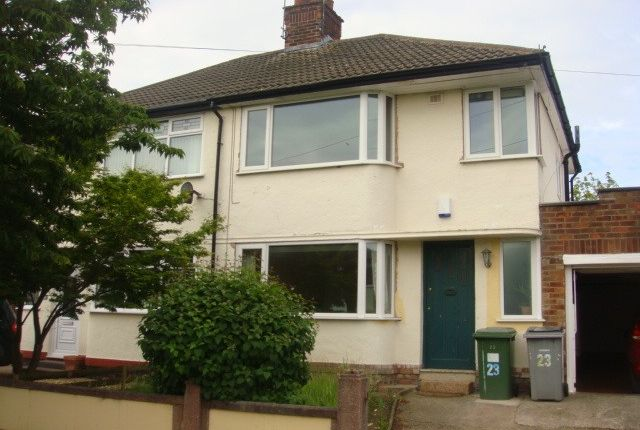 Thumbnail Semi-detached house to rent in Malpas Drive, Bebington, Wirral