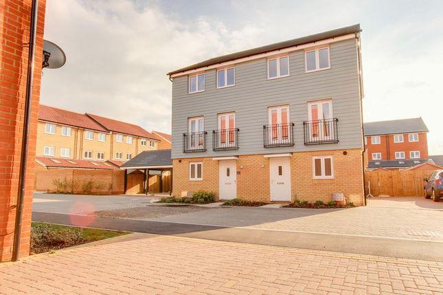 Thumbnail Semi-detached house for sale in Valerian Gardens, Soham, Ely