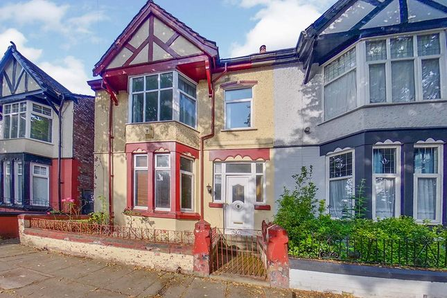 Thumbnail End terrace house for sale in Elm Vale, Liverpool, Merseyside