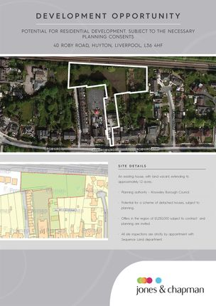 Thumbnail Land for sale in Roby Road, Huyton, Liverpool
