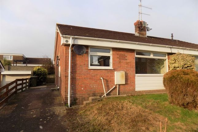 Thumbnail Semi-detached bungalow to rent in Cae'r Fferm, Caerphilly