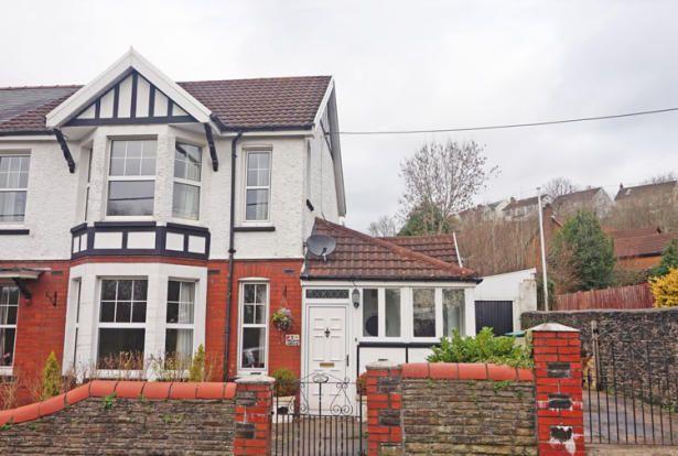 Thumbnail Semi-detached house for sale in Dilwyn Avenue, Ystrad Mynach