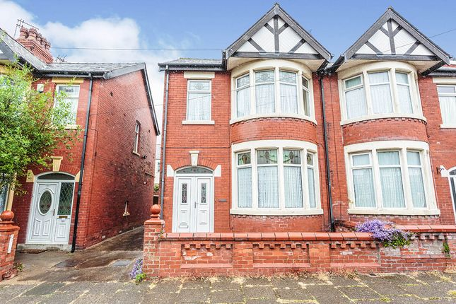 3 bed semi-detached house for sale in Montreal Avenue, Blackpool, Lancashire FY1