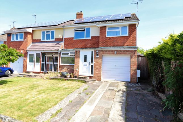 Thumbnail Semi-detached house for sale in Fieldcote Drive, Hucclecote, Gloucester