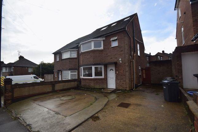 Thumbnail Semi-detached house to rent in Meyrick Avenue, Luton