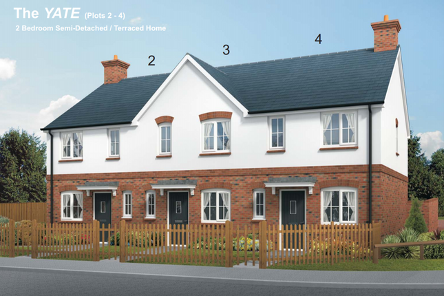 Thumbnail Terraced house for sale in Squires Meadow, Lea, Ross-On-Wye, Herefordshire