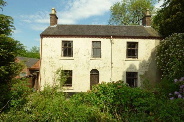 Thumbnail Farmhouse for sale in Leek Frith, Leek, Staffordshire