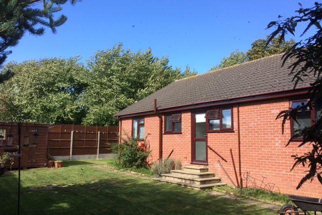 Thumbnail Detached bungalow for sale in Exchange Road, Newton Flotman, Norwich