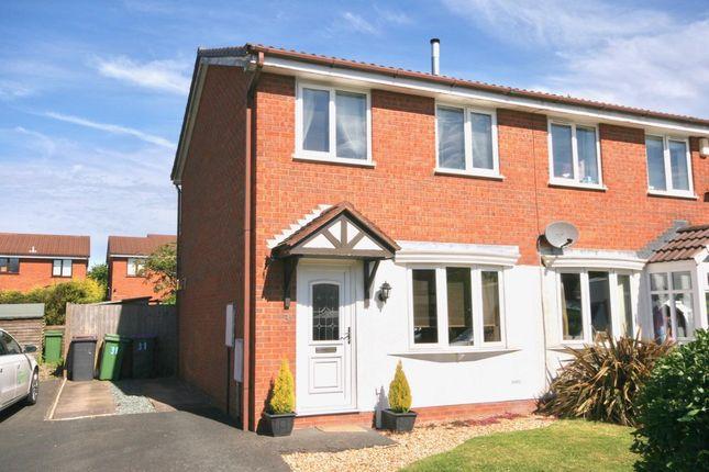 Thumbnail Semi-detached house for sale in Ravenhill Drive, Ketley Bank, Telford