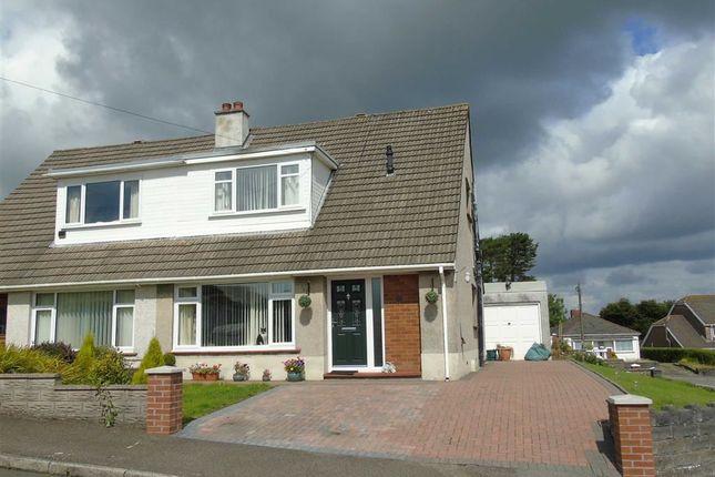 Thumbnail Semi-detached bungalow for sale in Cleviston Park, Llangennech, Llanelli