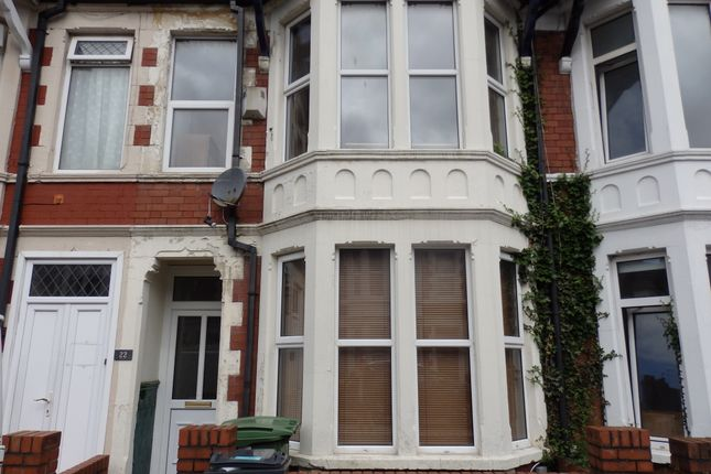Thumbnail Terraced house to rent in Australia Road, Cardiff