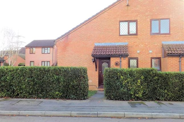 Thumbnail End terrace house to rent in Rotherfield Close, Theale, Reading