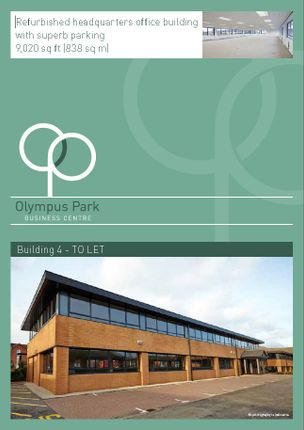 Thumbnail Office to let in Olympus Park, Gloucester