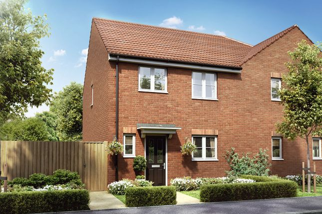 """Thumbnail Semi-detached house for sale in """"The Eveleigh"""" at Badgers Chase, Retford"""