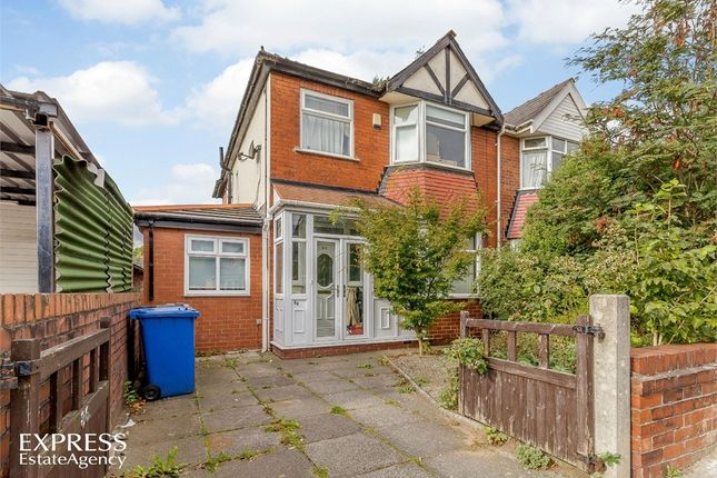 Thumbnail Semi-detached house for sale in Warwick Road South, Firswood, Manchester
