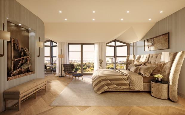 Master Bedroom of 50 Kensington Gardens Square, Bayswater W2