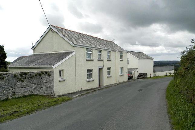 Thumbnail Farmhouse for sale in Llanfallteg, Llanfallteg, Whitland, Carmarthenshire