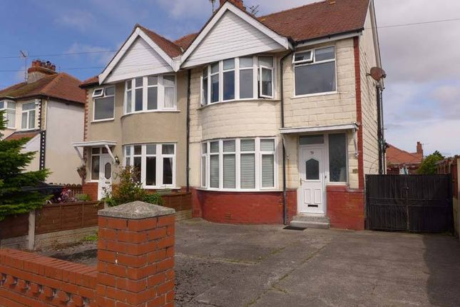 Thumbnail Semi-detached house for sale in Cumberland Avenue, Thornton-Cleveleys