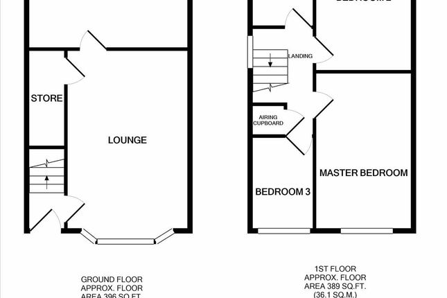 Floor Plan of Allgreave Close, Middlewich CW10