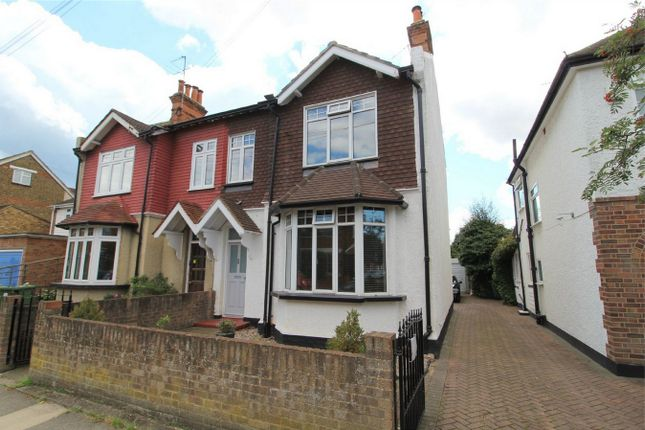 Thumbnail Semi-detached house for sale in Chaucer Road, Ashford, Middlesex