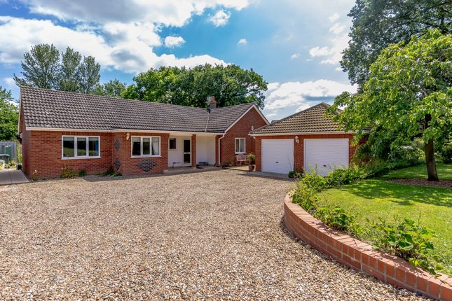 Thumbnail Detached bungalow for sale in Chequers Road, Tharston, Norfolk