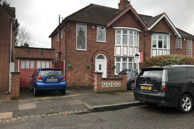 Thumbnail Semi-detached house for sale in Midway Road, Leicester
