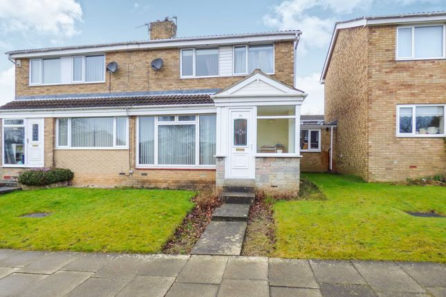 Thumbnail Semi-detached house for sale in Wilkwood Close, Cramlington