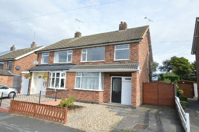 Thumbnail Semi-detached house for sale in Hill View Drive, Cosby, Leicester