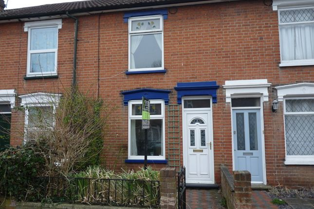 Thumbnail Terraced house to rent in Cemetery Road, Ipswich