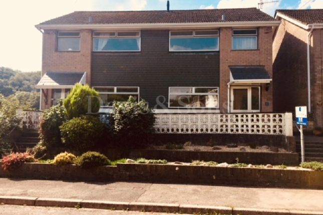 Thumbnail Semi-detached house to rent in Hafod Road, Ponthir, Newport, South Wales.