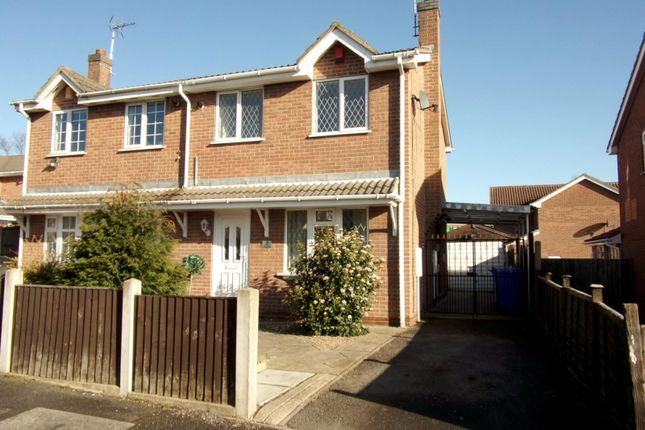 Thumbnail Semi-detached house to rent in Linnet Drive, Mansfield, Nottinghamshire