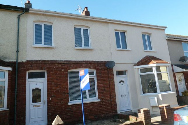 Thumbnail Terraced house to rent in Rosebery Road, Exmouth