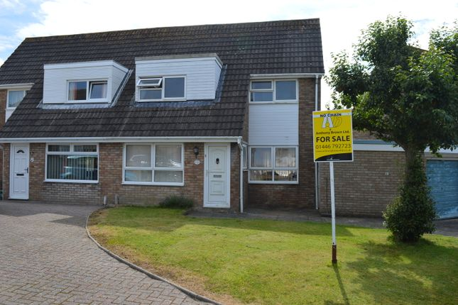 Thumbnail Semi-detached house for sale in Cardigan Crescent, Llantwit Major