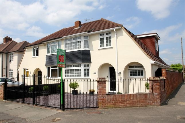 Thumbnail Semi-detached house for sale in Hurstdene Avenue, Staines-Upon-Thames, Surrey
