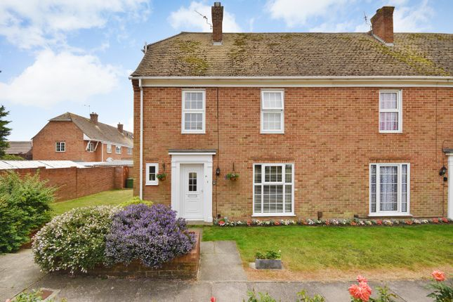 Thumbnail End terrace house for sale in Gainsborough Close, Folkestone