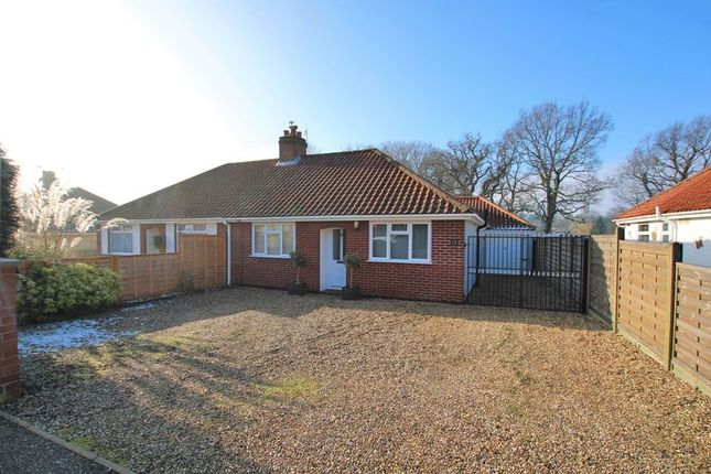 Thumbnail Semi-detached bungalow for sale in Sutherland Avenue, Hellesdon, Norwich
