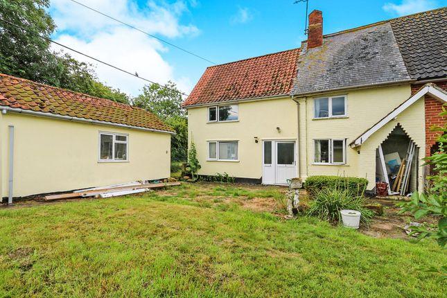 Thumbnail End terrace house for sale in Southolt Road, Bedfield, Woodbridge