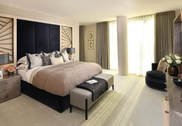 Bedroom of One Blackfriars, Southbank SE1
