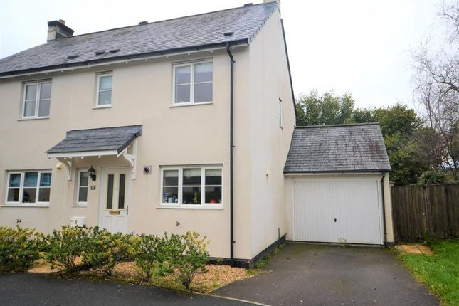 Thumbnail Semi-detached house to rent in Boconnoc Avenue, Callington, Cornwall