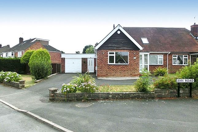 Thumbnail Semi-detached bungalow for sale in Ann Road, Wythall, Birmingham