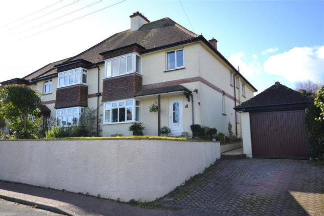 Thumbnail Semi-detached house for sale in Swains Road, Budleigh Salterton, Devon