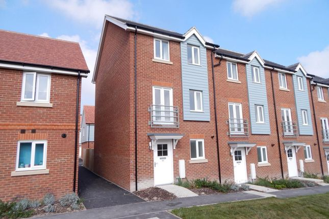 Thumbnail End terrace house to rent in Weavers Close, Eastbourne