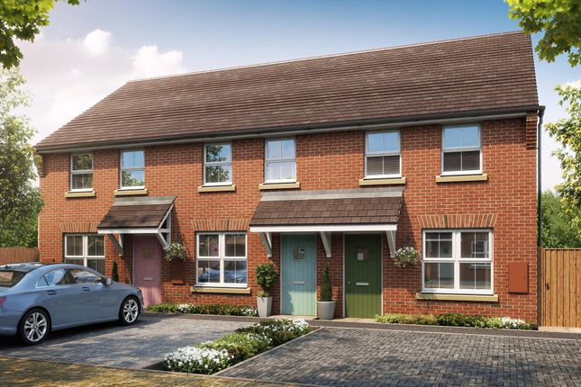 "Thumbnail Terraced house for sale in ""Darwin"" at Fen Street, Brooklands, Milton Keynes"
