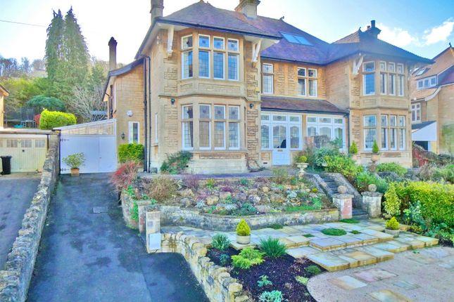 Thumbnail 5 bedroom semi-detached house for sale in Denstone, 45 Englishcombe Lane, Bath