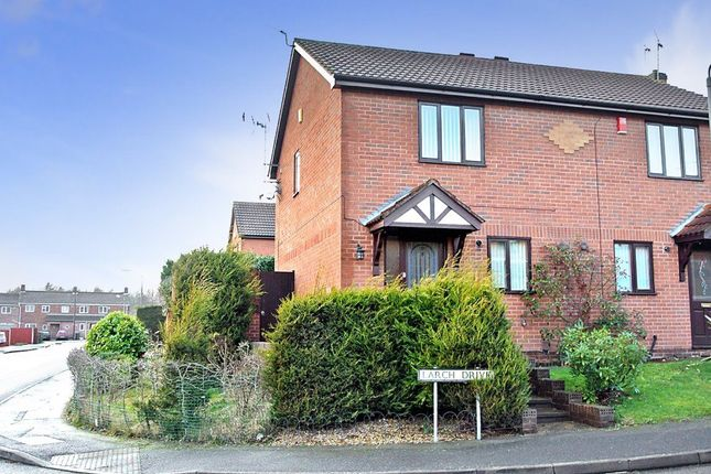 Thumbnail Semi-detached house to rent in Larch Drive, Sandiacre, Nottingham