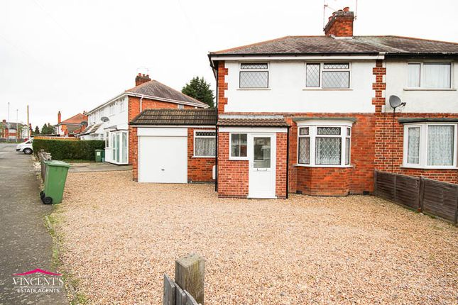 Thumbnail Semi-detached house for sale in Gwencole Crescent, Leicester