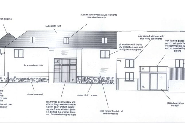 Elevations of Barns For Conversion With Planning Permission, Blenheim Lane, Exbourne EX20