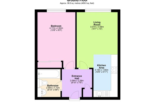 Floor Plan of Queens Road, Nottingham NG2