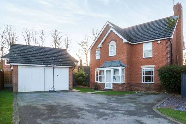 Thumbnail Detached house for sale in Hornbeam Close, Oadby, Leicester